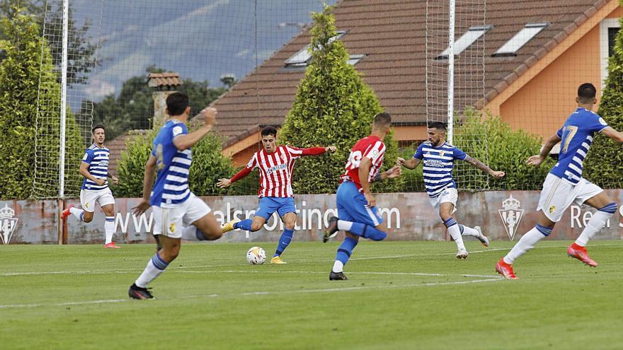 La crónica del partido del Sporting: Los de Gallego ponen las ocasiones y el gol ante una Ponfe en inferioridad