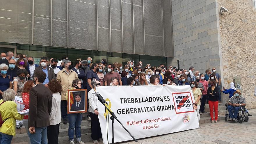 Concentració de suport a Puigdemont a Girona