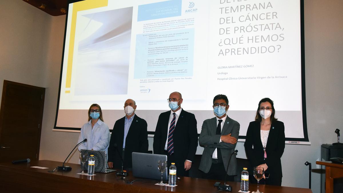 Acto organizado en Murcia por la Asociación Nacional de Cáncer de Próstata (ANCAP)