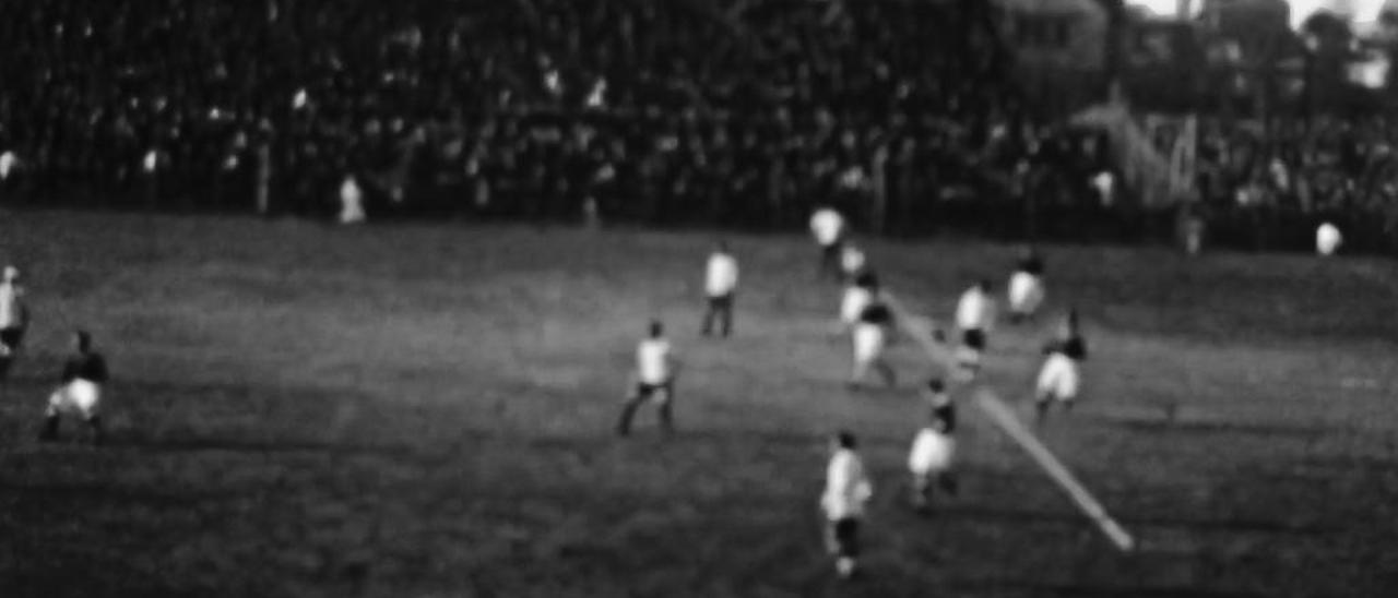 Fotograma del partido, entre las imágenes más antiguas del Celta.
