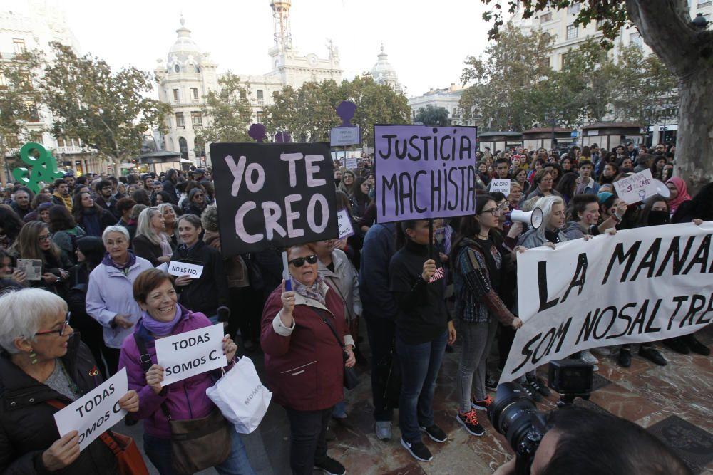 """Protesta en València contra la """"justicia machista"""""""