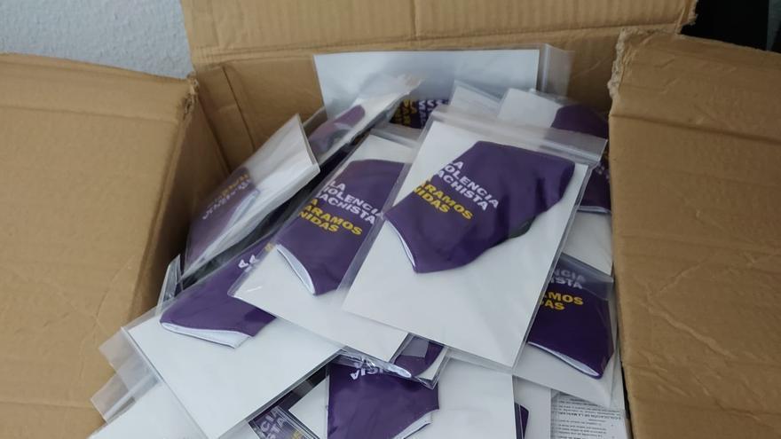 Mascarillas violetas en La Palma contra la violencia de género