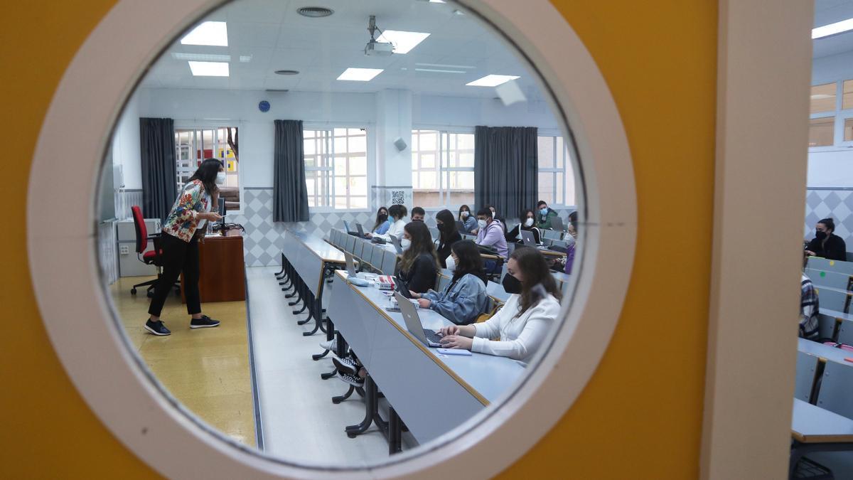 Estudiantes de la Facultad de Derecho de la  Universidad de Málaga.