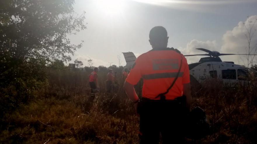 Hallan sin vida a un hombre de 65 años desaparecido tras un accidente