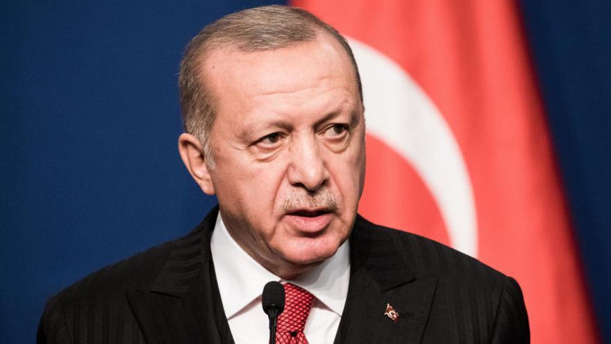 Erdogan, durante su rueda de prensa.