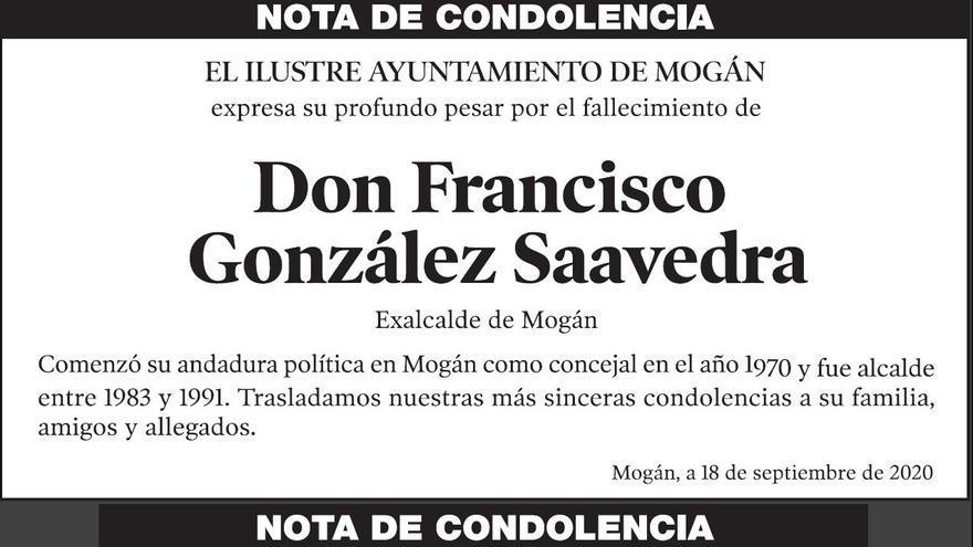 Don Francisco González Saavedra