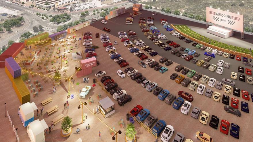 El autocine de Málaga prevé abrir el próximo mes de agosto