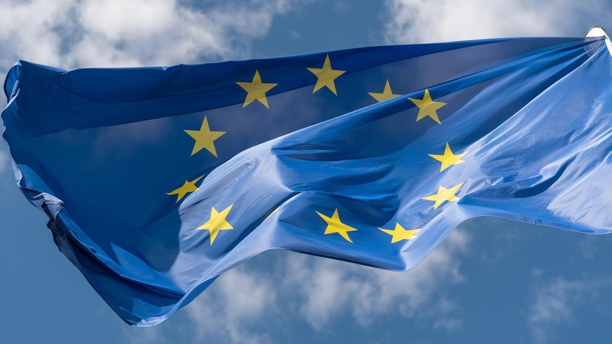 Bandera de la Unión Europea.