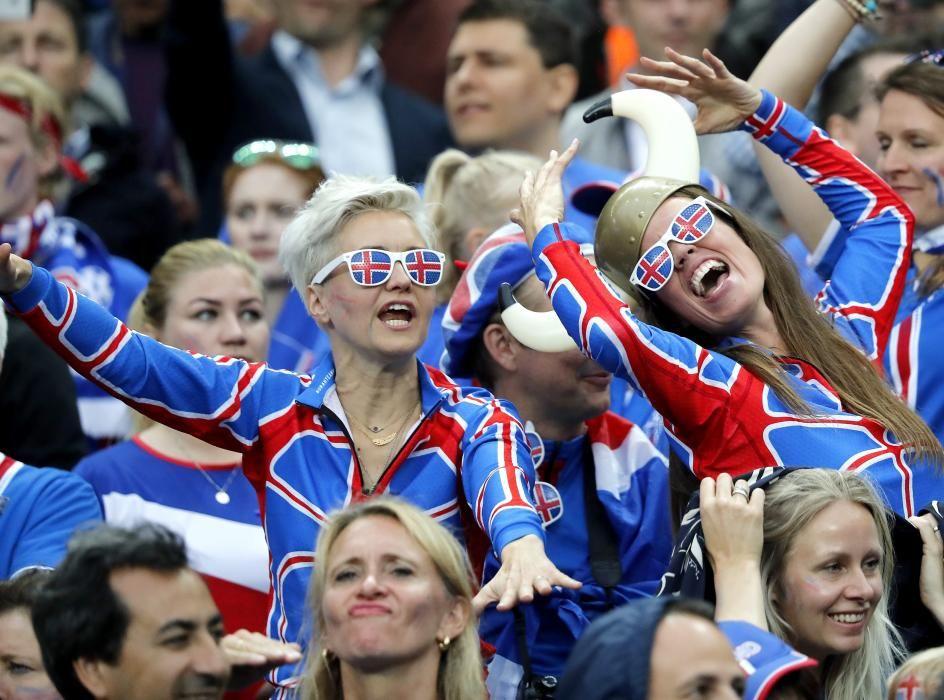 La afición de Islandia se vuelca con su selección