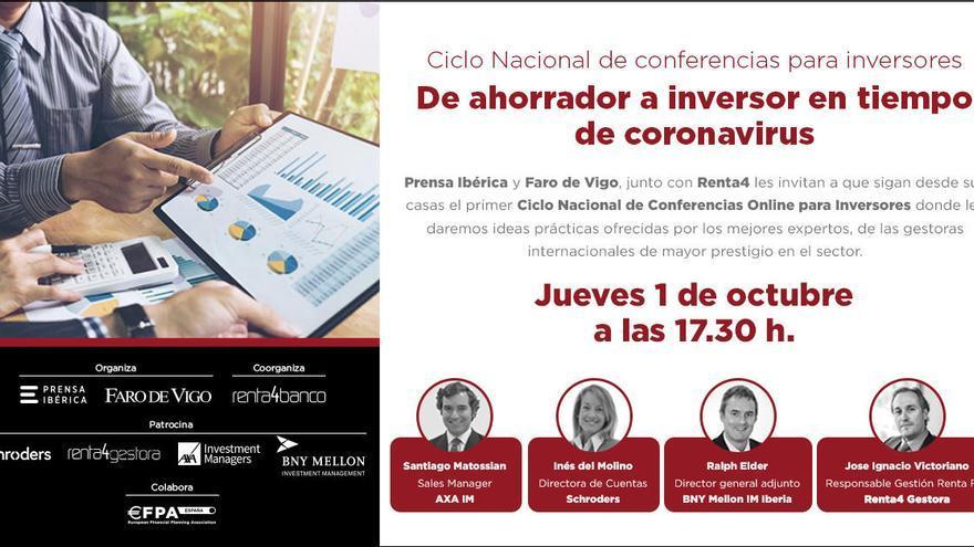 FARO, Prensa Ibérica y Renta4 realizan hoy un foro digital sobre inversiones