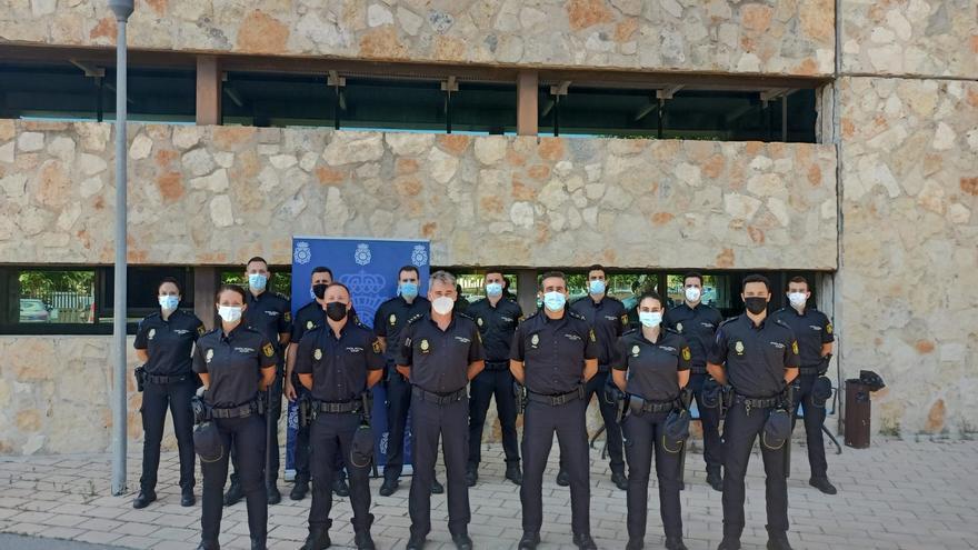 La Comisaría de Ibiza se refuerza con 16 agentes y un inspector en periodo de prácticas