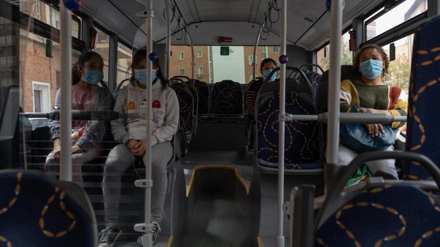 Autobús urbano en Zamora.
