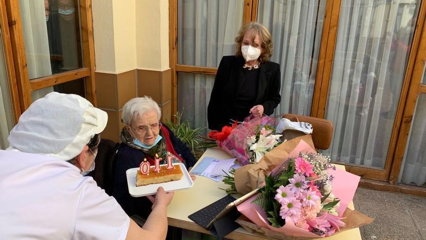 Rosa, una aragonesa que acaba de cumplir los 110 años, ya piensa en llegar a los 111
