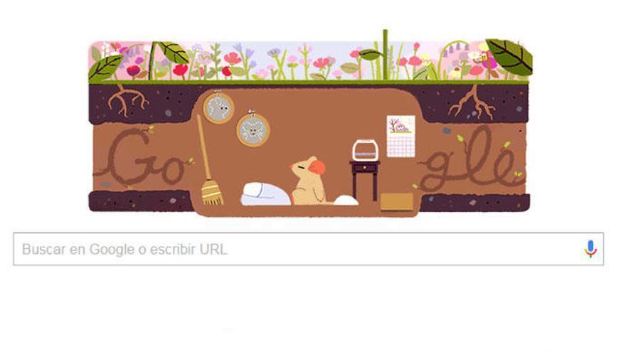 El equinoccio de primavera, en el 'doodle' de Google