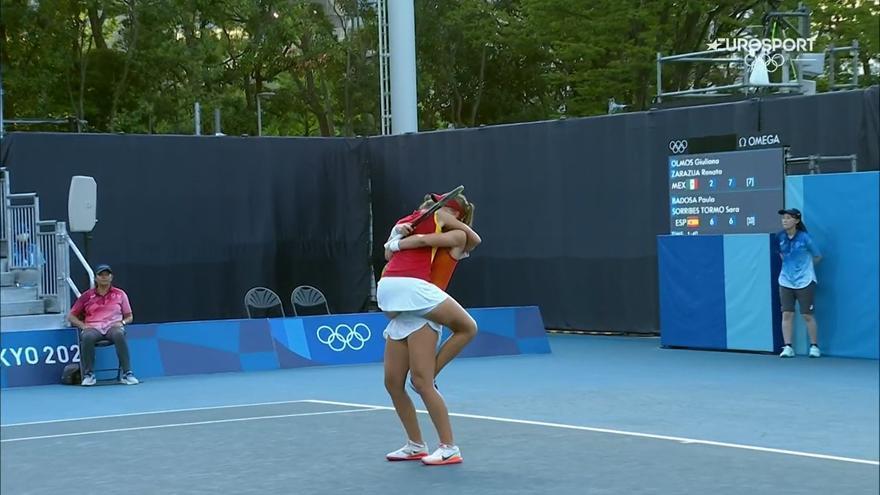 'Doblete' de Sara Sorribes en su debut olímpico