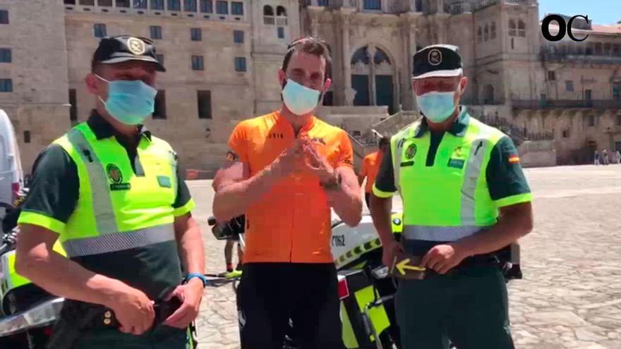 Dani Rovira recomienda visitar el Camino de Santiago junto a la Guardia Civil en el reto FinisteRett