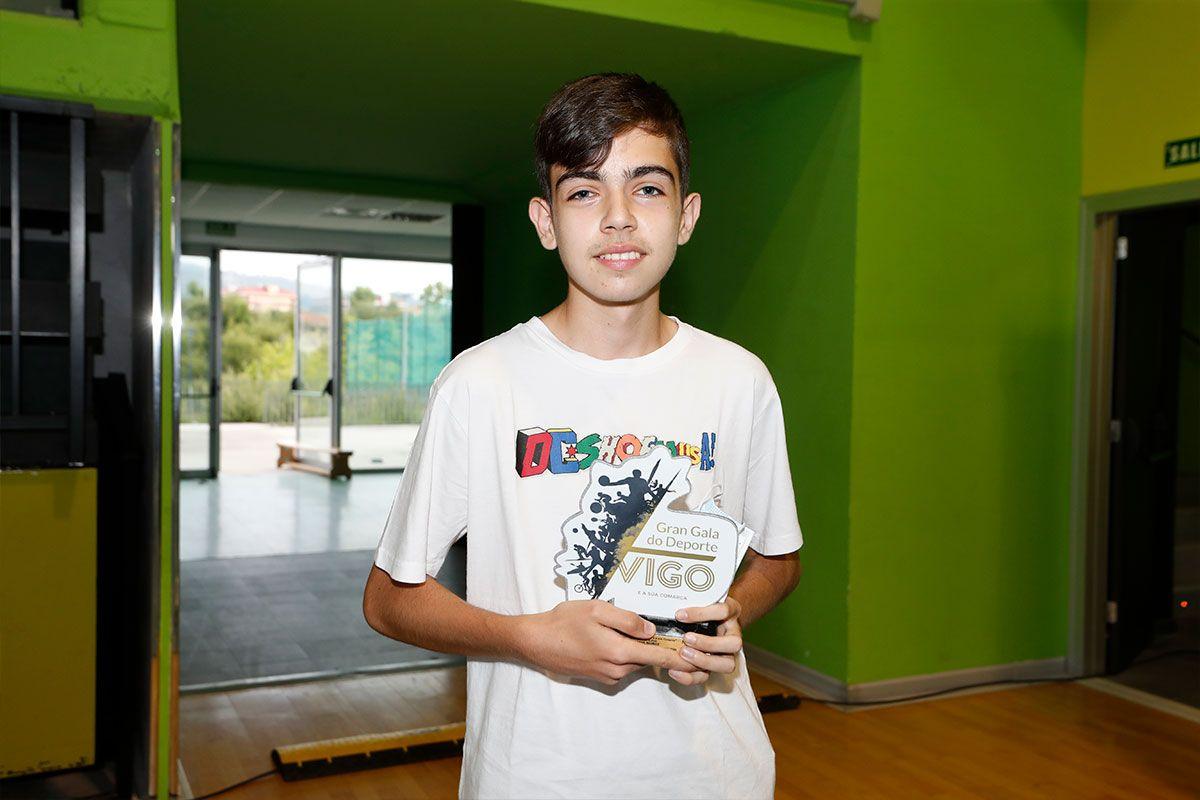 Juan, hermano de Xisela Aranda, ganadora de squash