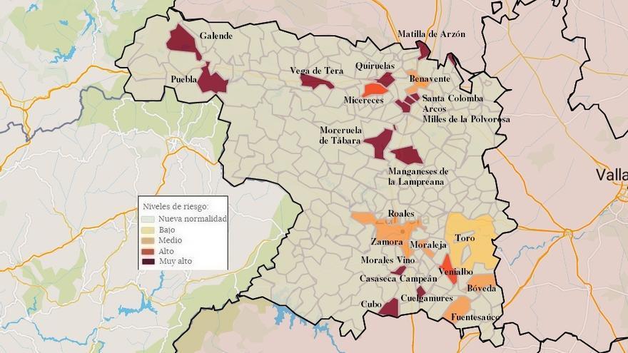 Mapa de coronavirus de Zamora, hoy, domingo | En aumento los casos de Puebla de Sanabria y Galende