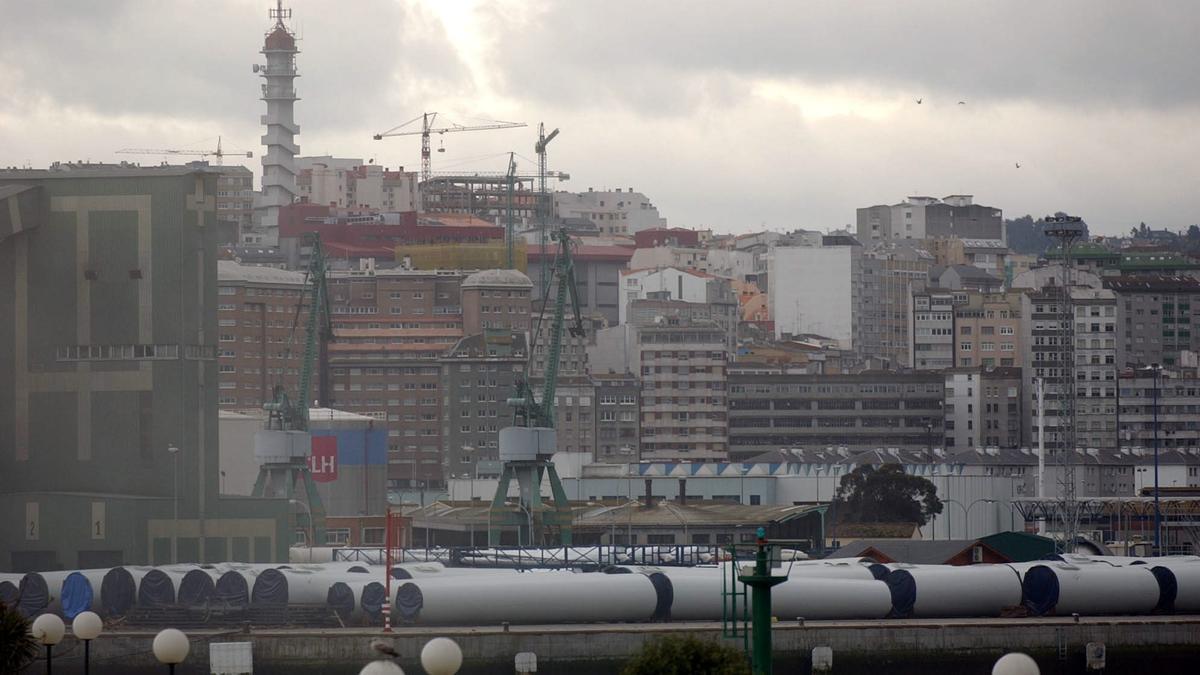 Vista del muelle de San Diego en el puerto de A Coruña. / Carlos Pardellas