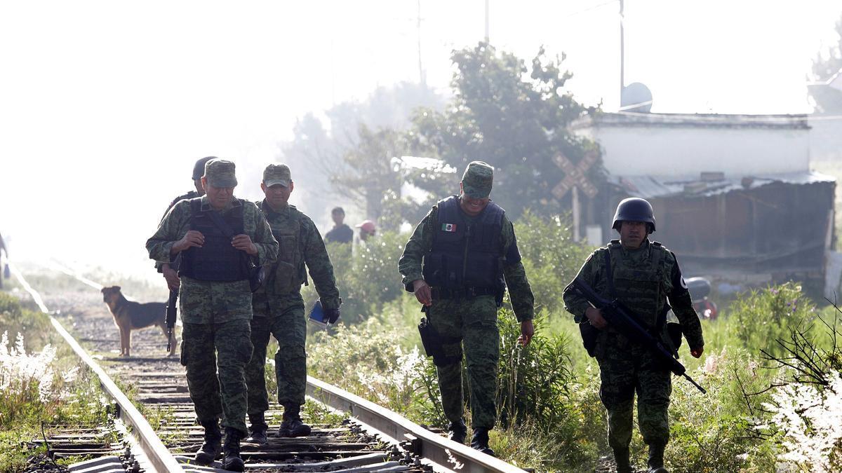 Fuerzas de seguridad en el lugar del tiroteo.