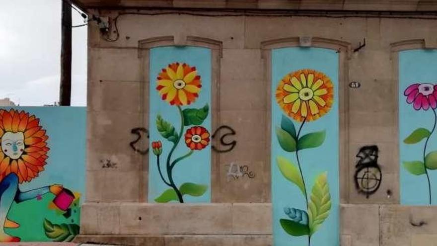 Nuevo Mural En La Trasera Del Colegio Quiñones De León Faro De Vigo