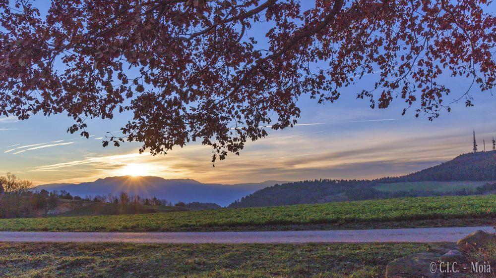 Moianès. L'albada ja és aquí, arriba a la comarca del Moianès. El sol ja comença a escalfar la natura i a deixar-se veure, ell ja vol començar el dia.