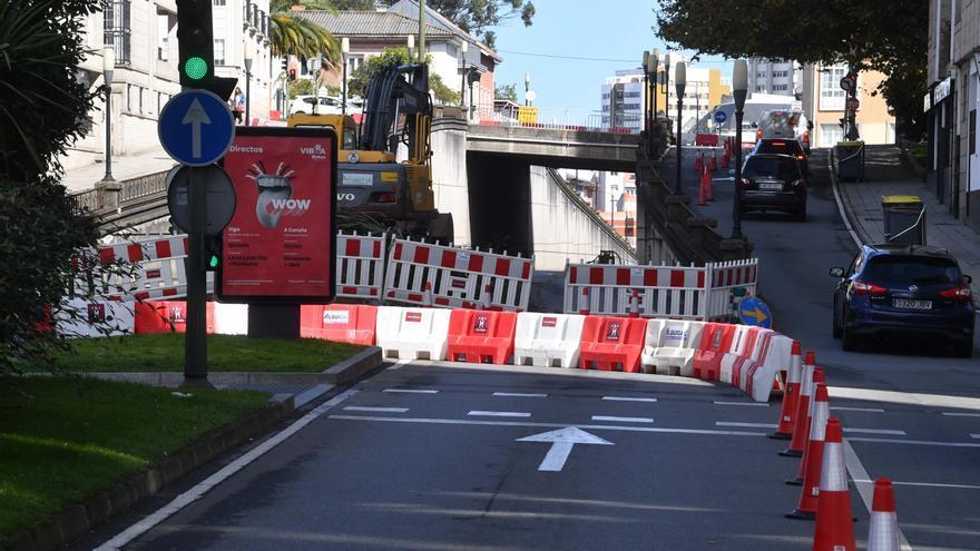 Comienzan las obras para suprimir el paso de la avenida de Arteixo bajo la ronda de Nelle