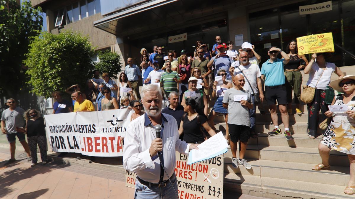 Francis Martínez lideraba la concentración de ayer.