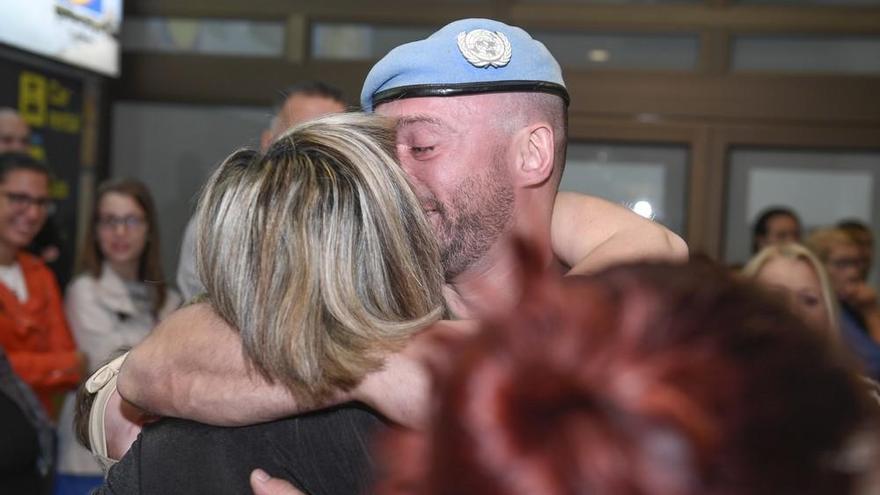 Los 'últimos de Líbano' aterrizan en casa