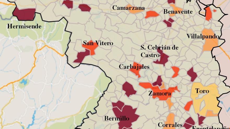 Mapa COVID de Zamora: Morales del Vino y Villalpando, afectados de nuevo por casos de coronavirus