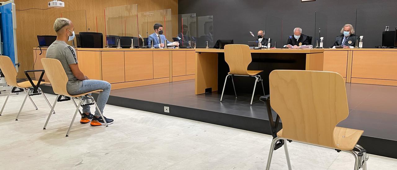 Kauei Vasconcelos, este miércoles durante el juicio en su contra