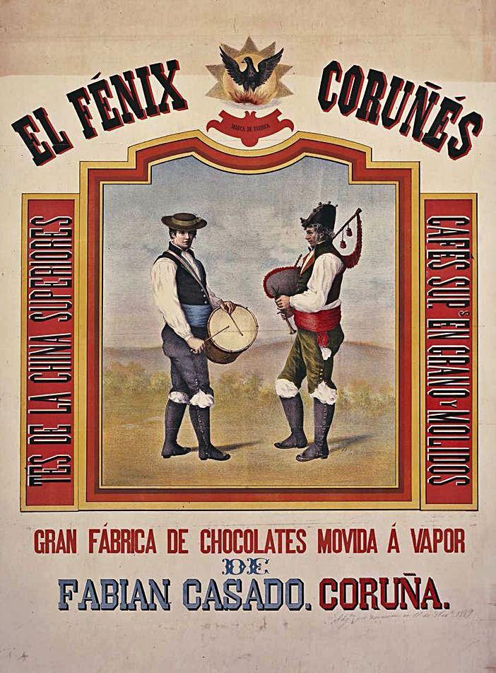 Cartel de El Fénix Coruñés del s. XIX.  | // BNE