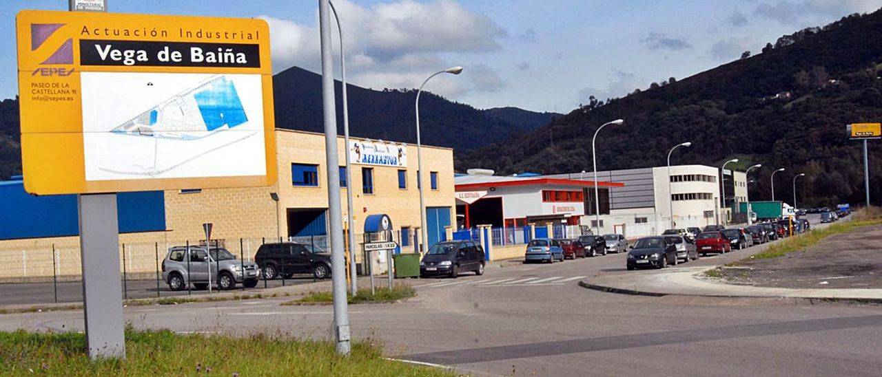 Las instalaciones del polígono de Baíña.