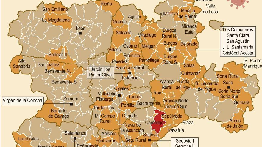 Mapa de COVID en Castilla y León