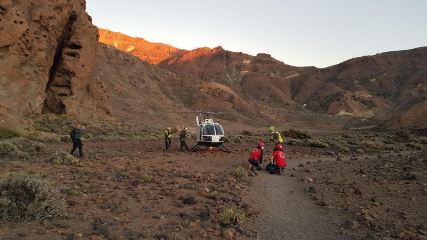 Mueren dos personas en una zona de escalada del Parque Nacional del Teide