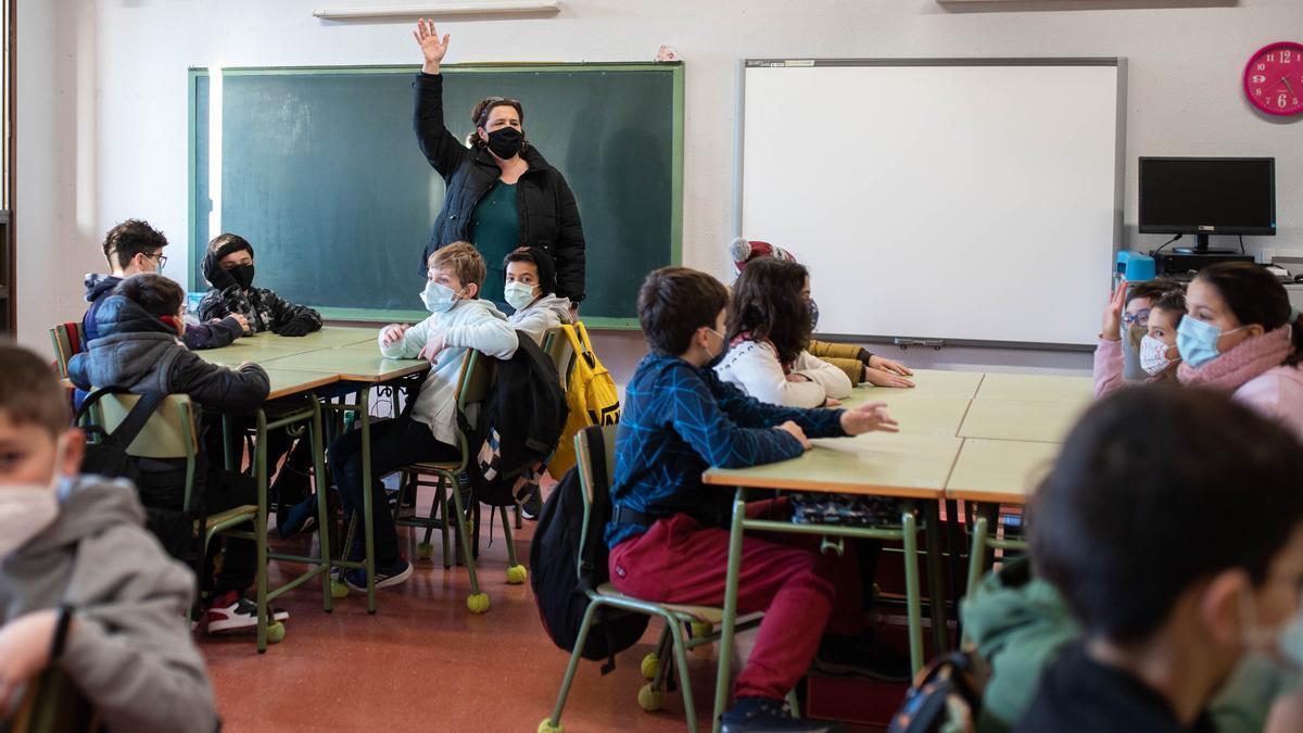 Un aula del Colegio Camino Largo de La Laguna.