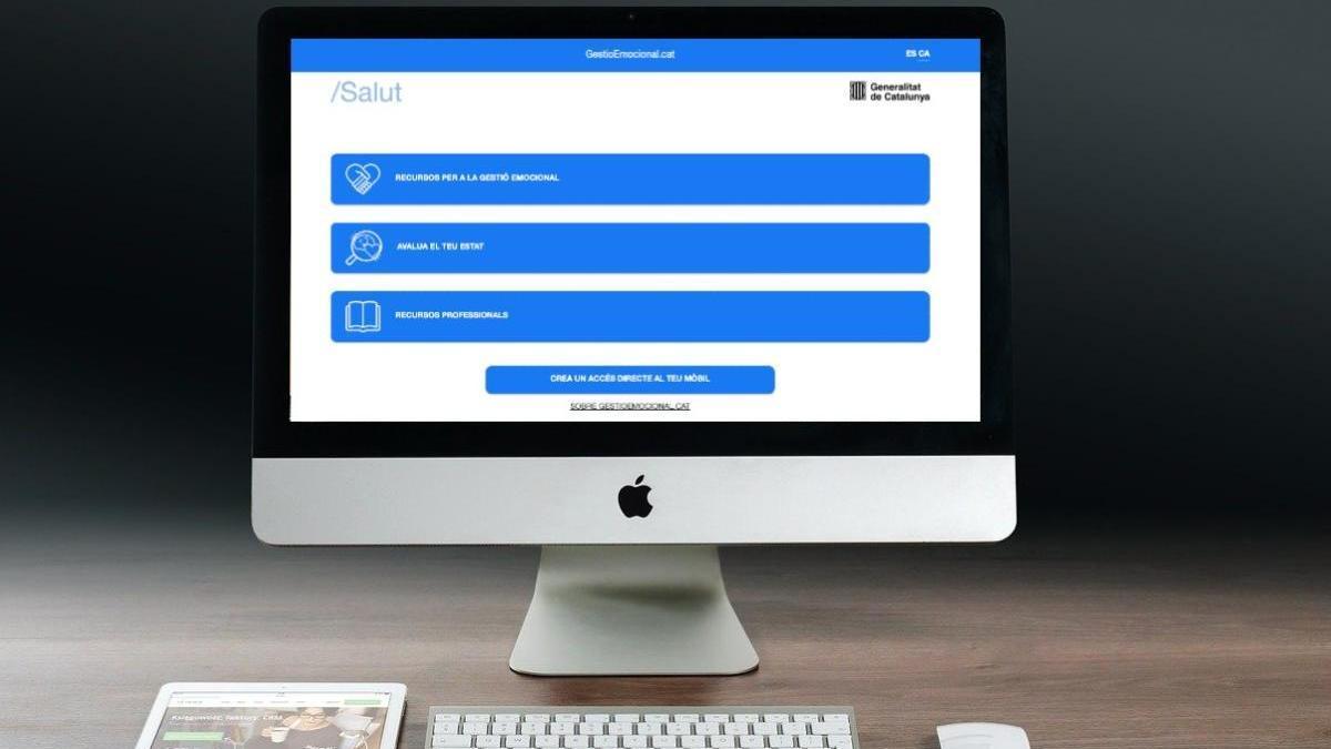 Salut habilita una aplicació web per gestionar la salut emocional