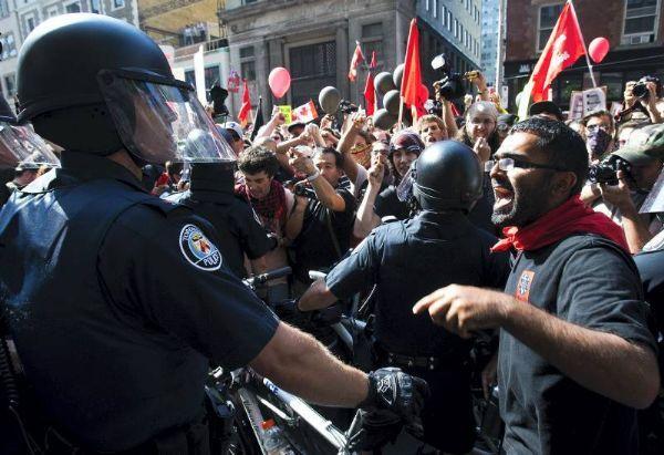 Protestas por la agenda del G-20
