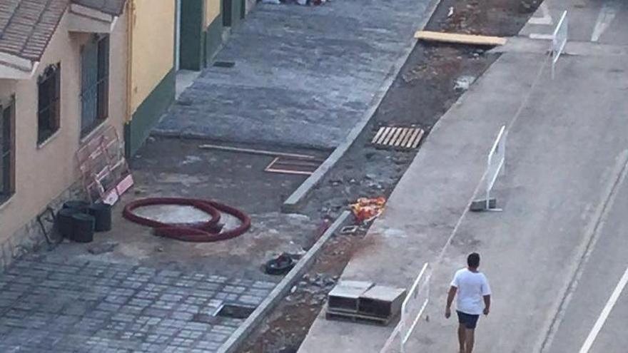 Video del desajuste entre dos tramos en el que no coinciden sus extremos en la calle San Jaime de Almassora.