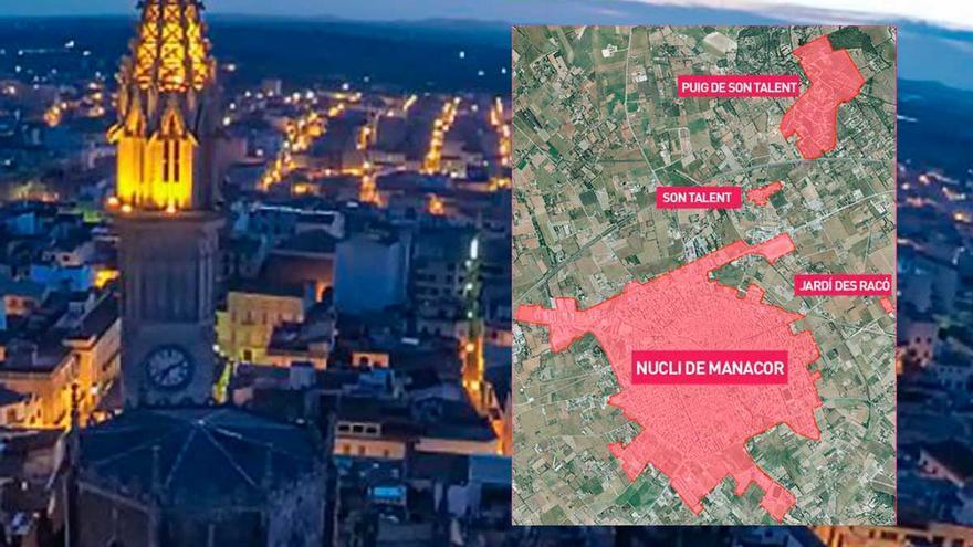 Estas son las zonas afectadas por el cierre perimetral de Manacor