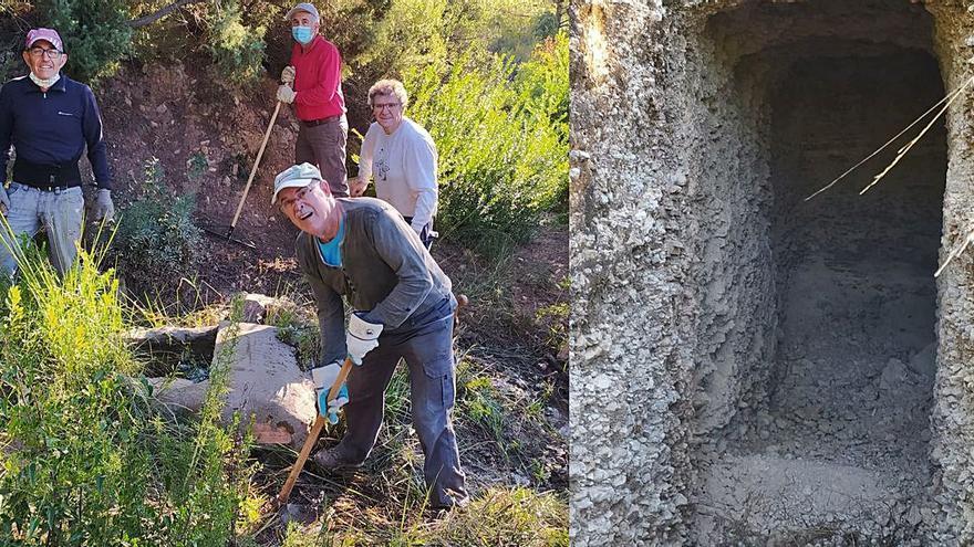 Los voluntarios de Estivella recuperan las trincheras