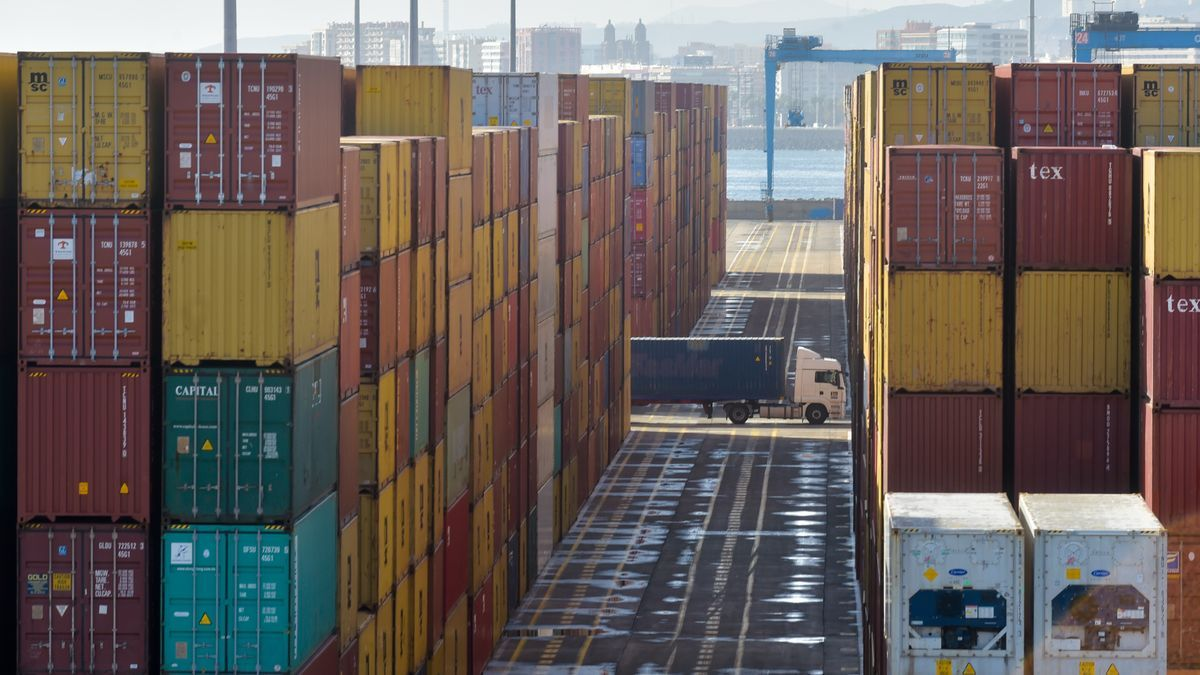 Terminal de contenedores de Opcsa, en una imagen de archivo.