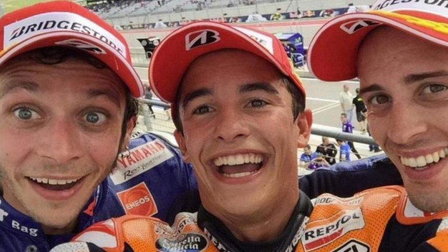 Rossi y Dovizioso ven casi imposible relevar a Márquez