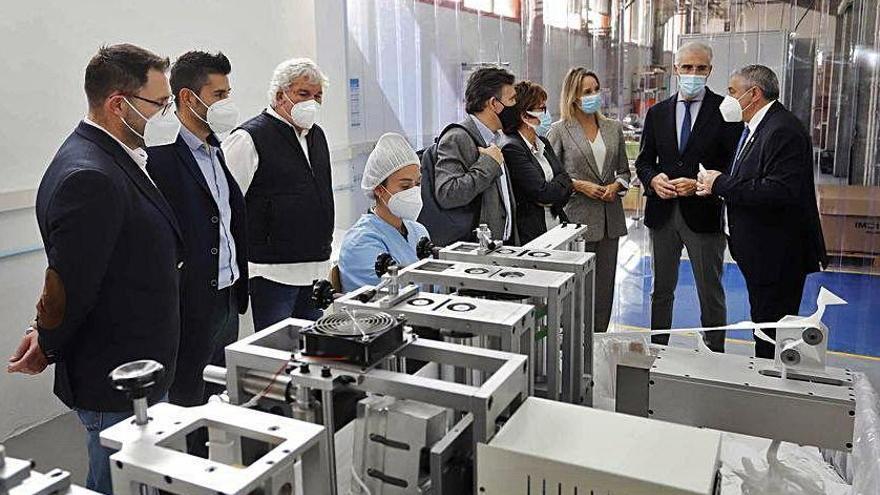 La primera planta gallega de mascarillas iniciará su producción en Vigo en 10 días