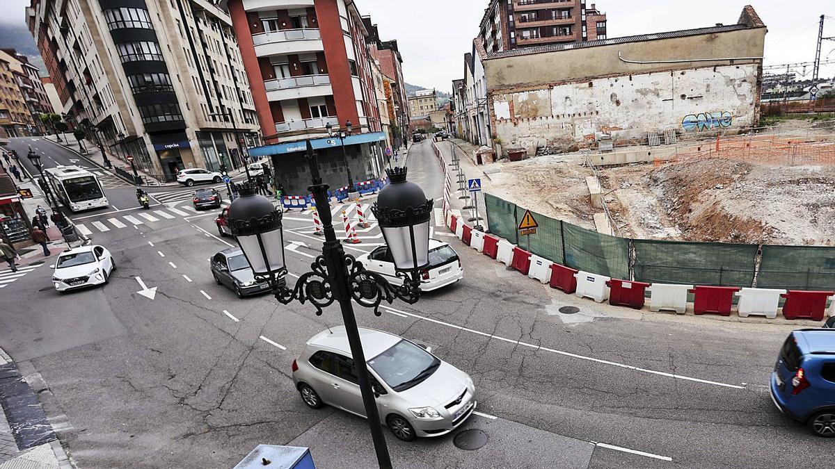 Circulación fluida en la calle Nicolás Soria, ayer, a la hora de entrada a los colegios.   Irma Collín