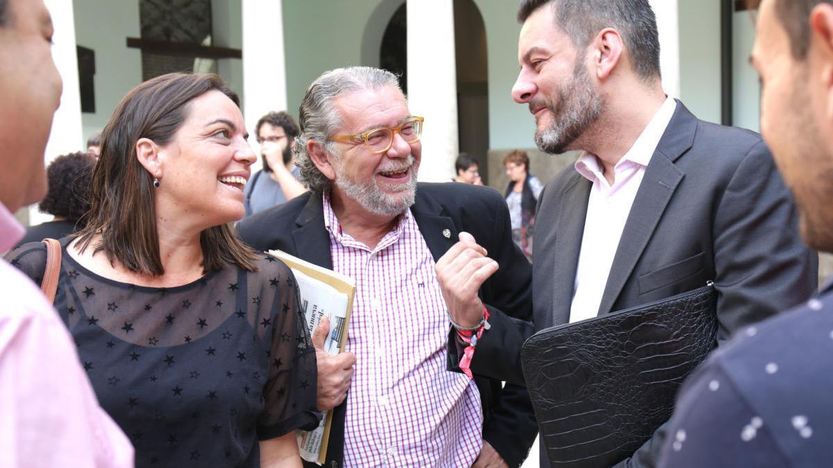 Anaïs Menguzzatto, Ramón Vilar y Carlos Galiana, en una foto de archivo de 2017.