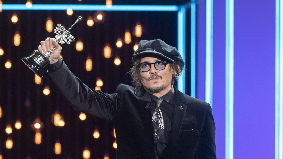 Johnny Depp recibe el Premio Donostia.