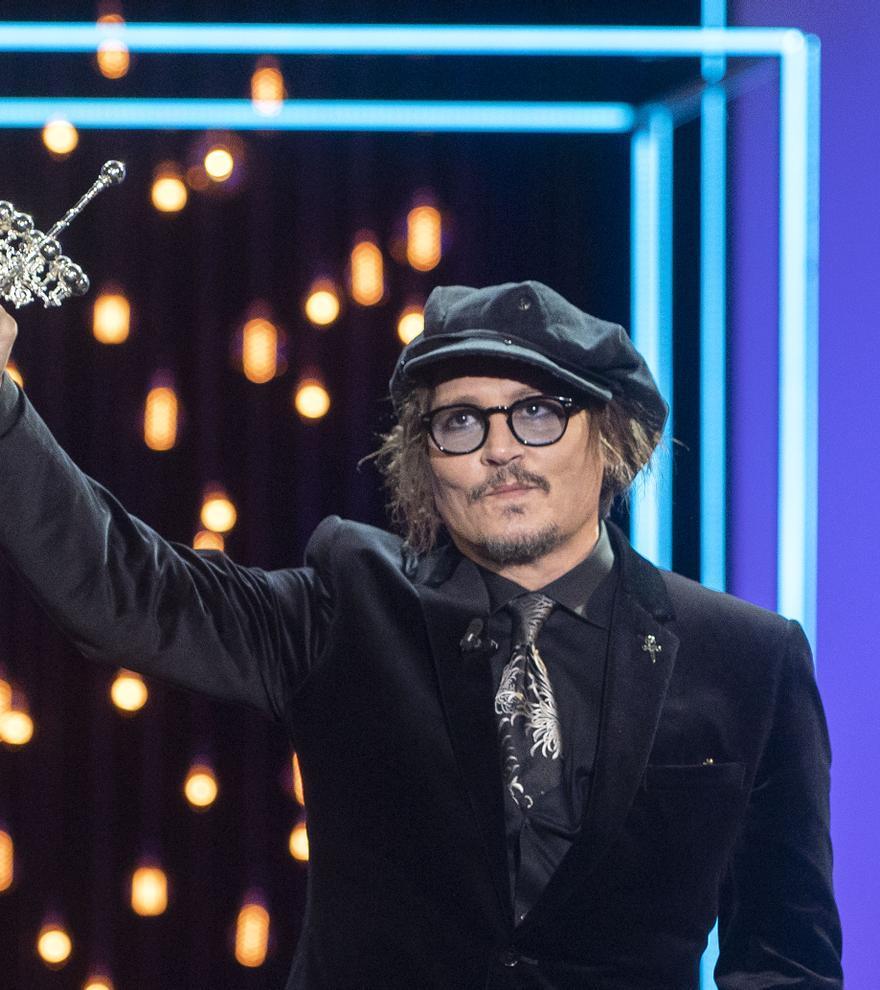 """Johnny Depp: """"Llevaré el Premio Donostia siempre en la memoria"""""""