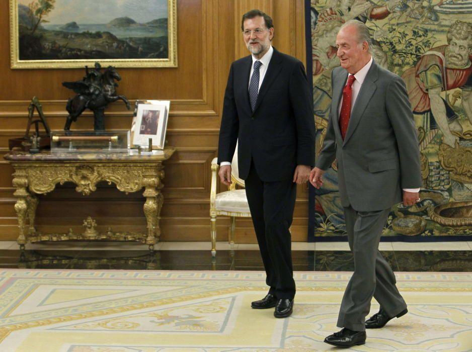 Juan Carlos junto a Mariano Rajoy.