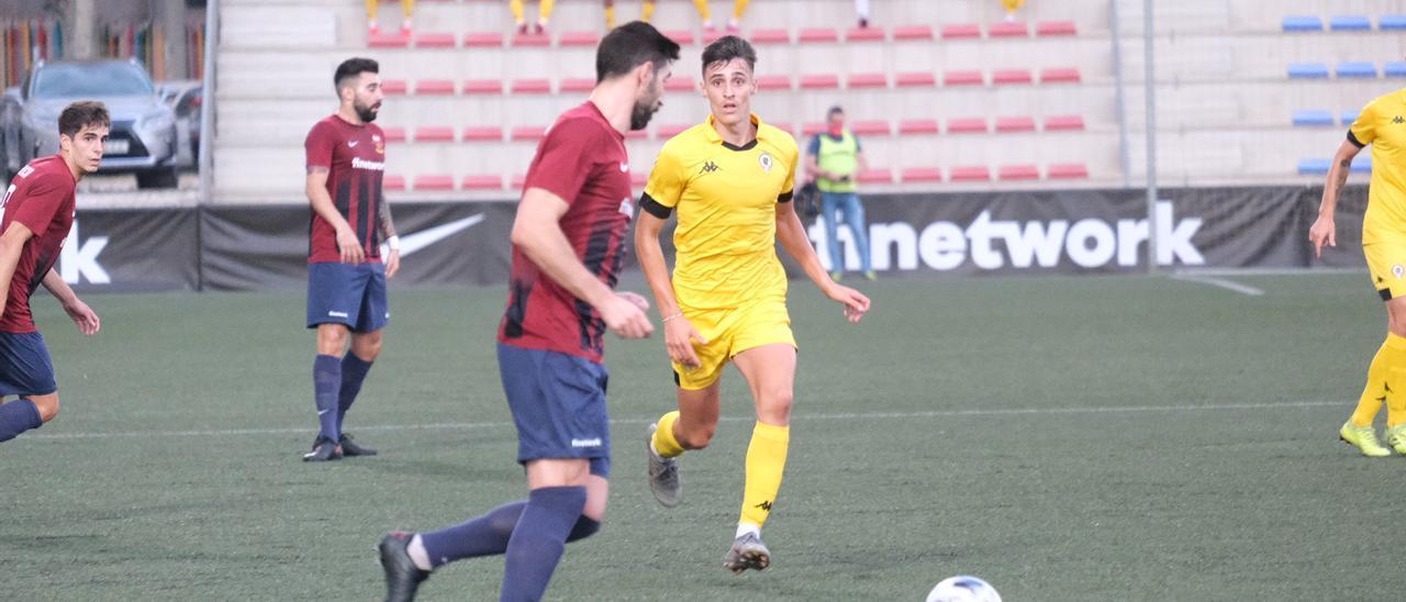 David Sánchez, en el partido contra el Eldense.